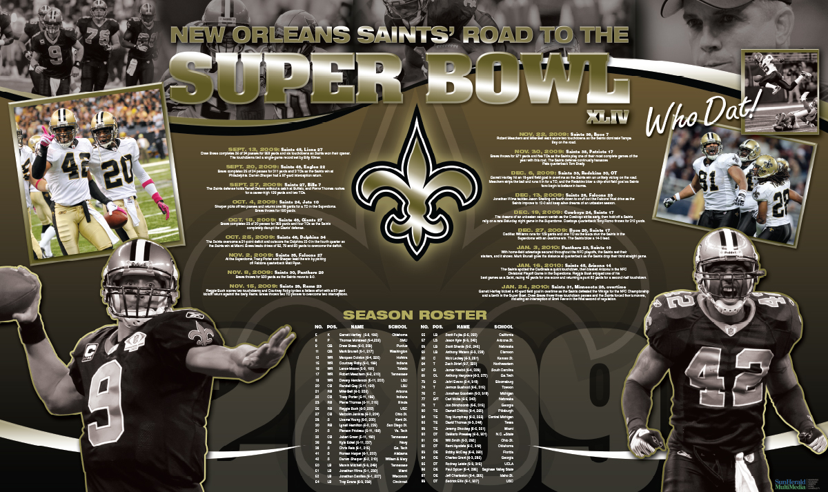 Saints Road to the Super Bowl Poster