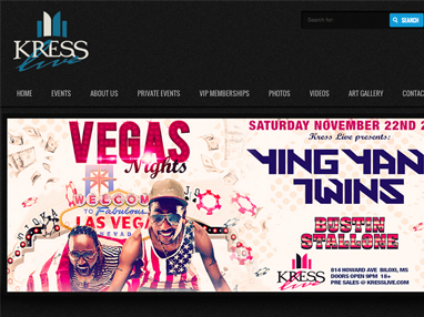 Kress Live Website